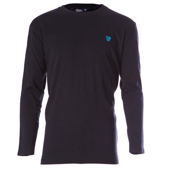 Camiseta manga larga niño UP Básicos negro (10-16)