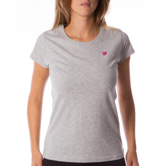 Camiseta UP Básicos gris mujer