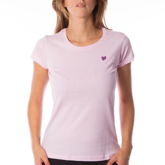 Camiseta UP Básicos rosa mujer