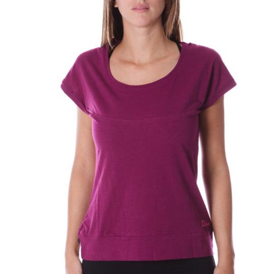 Camiseta manga corta mujer ILICO en morado