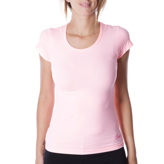 Camiseta manga corta mujer ILICO en rosa claro