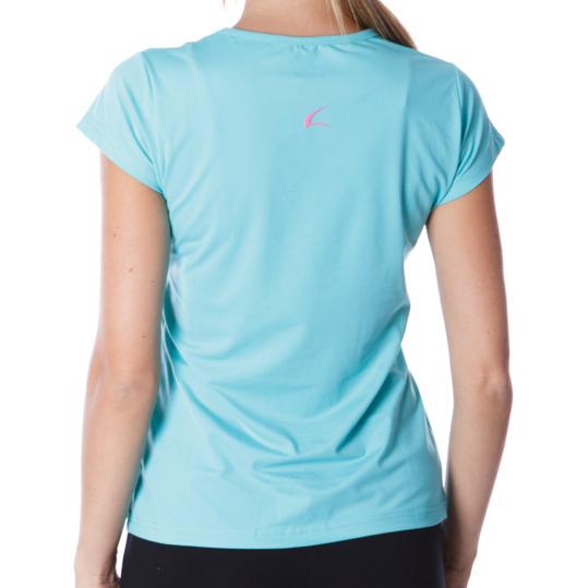 Camiseta manga corta mujer ILICO en verde claro