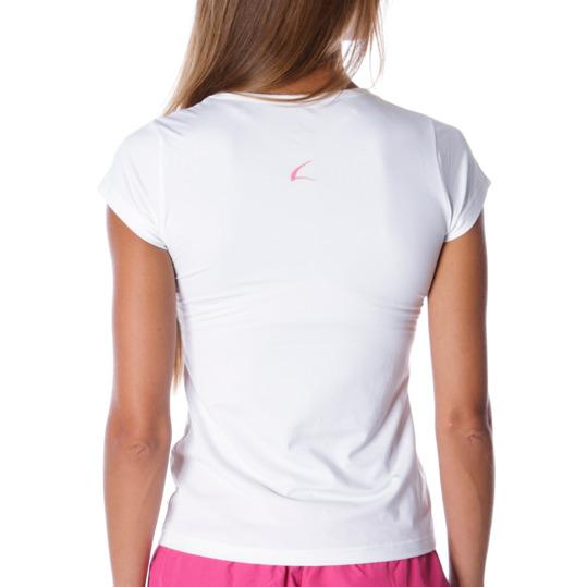 Camiseta manga corta mujer ILICO en blanco