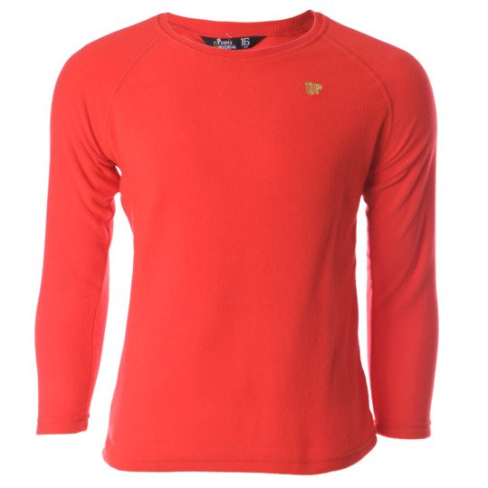Sudadera polar UP Basic rojo niño (2-8)