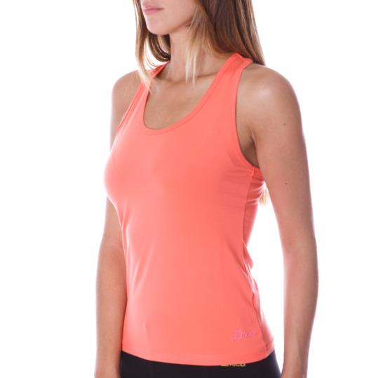 Camiseta ILICO Tirantes Aeróbic Mujer en Coral