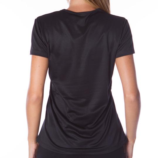 Camiseta running negro mujer IPSO
