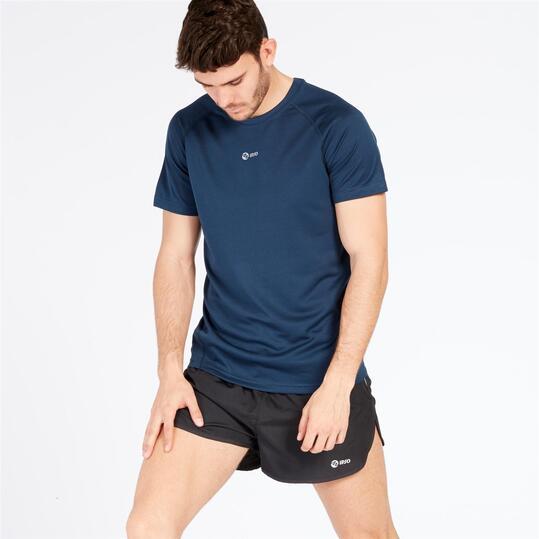 Camiseta IPSO manga corta de Running hombre marino