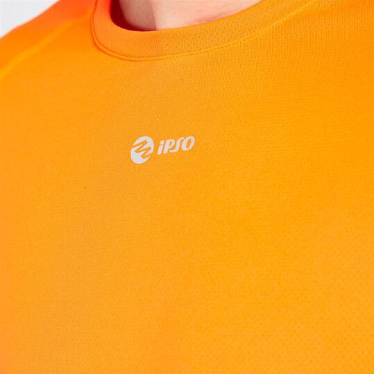 Camiseta IPSO manga corta de Running hombre naranja
