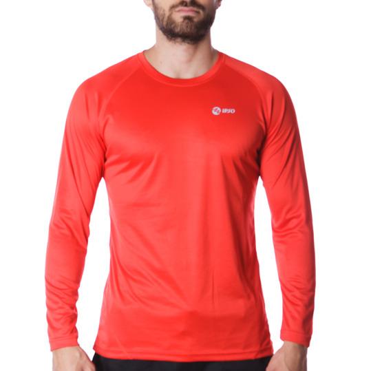 Camiseta IPSO manga larga de Running hombre en rojo