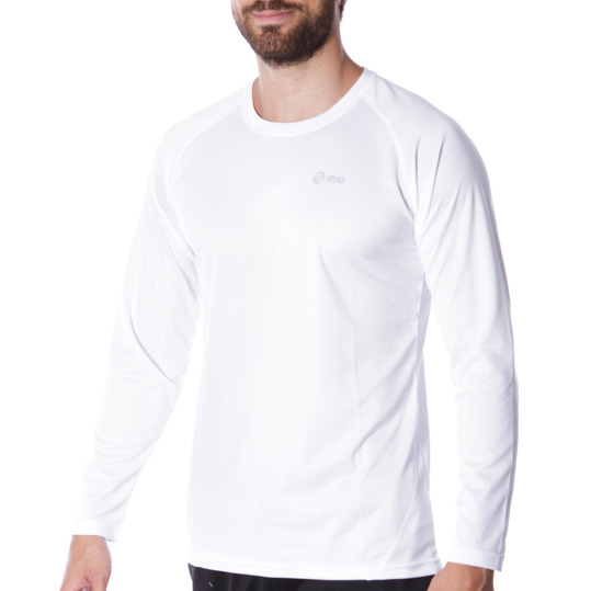 Camiseta IPSO manga larga de Running hombre en blanco