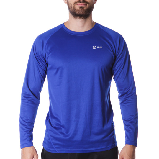 Camiseta IPSO manga larga de Running hombre en royal