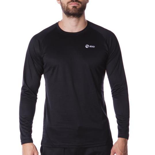 Camiseta IPSO manga larga de Running hombre en negro