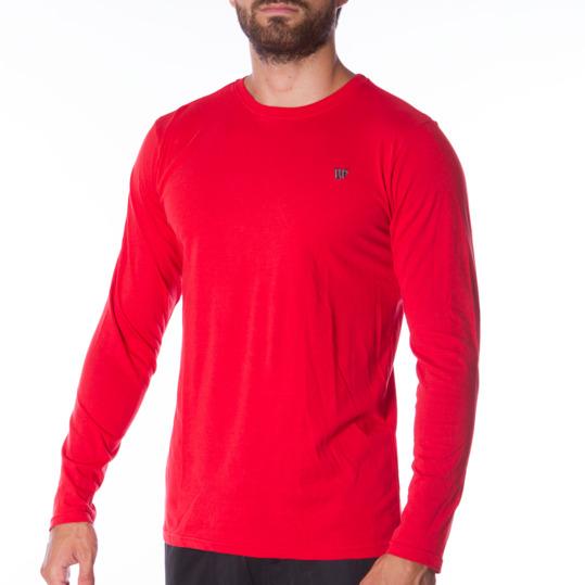 Camiseta de manga larga hombre UP Básicos rojo