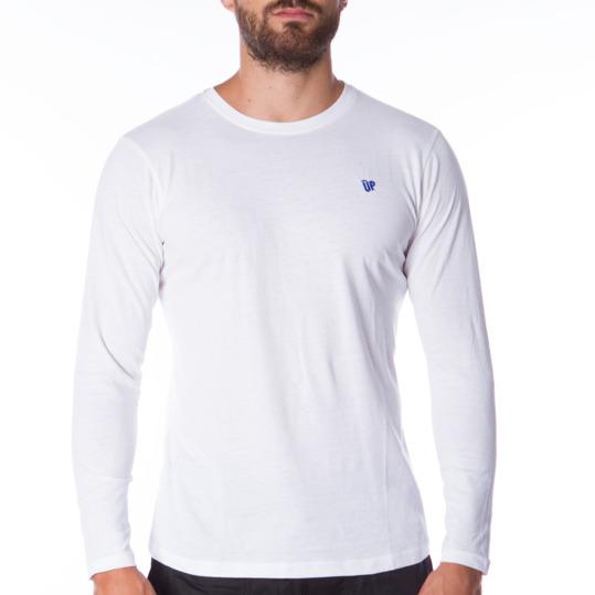 Camiseta de manga larga hombre UP Básicos blanco