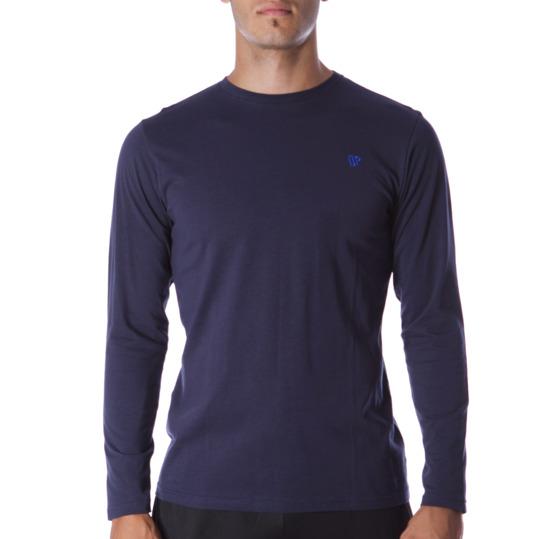 Camiseta de manga larga hombre UP Básicos azul marino