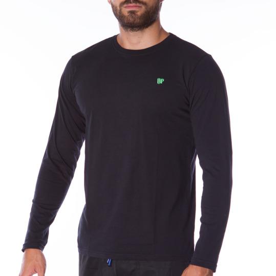 Camiseta de manga larga hombre UP Básicos negro