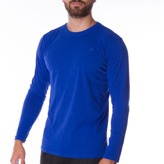 Camiseta de manga larga hombre UP Básicos azul