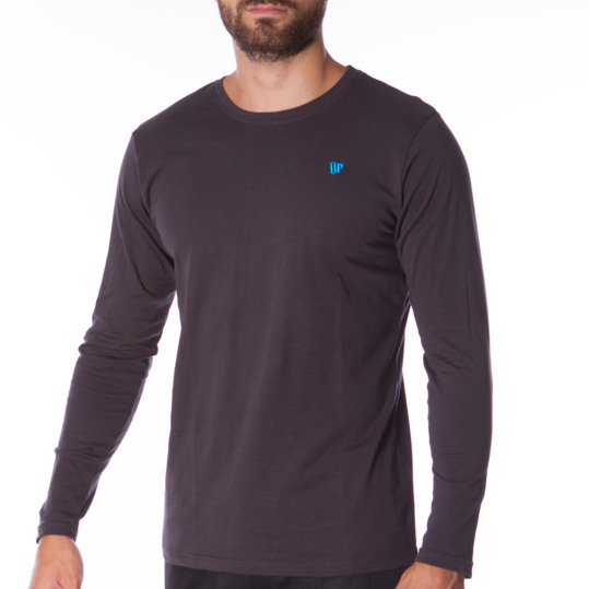 Camiseta de manga larga hombre UP Básicos gris oscuro