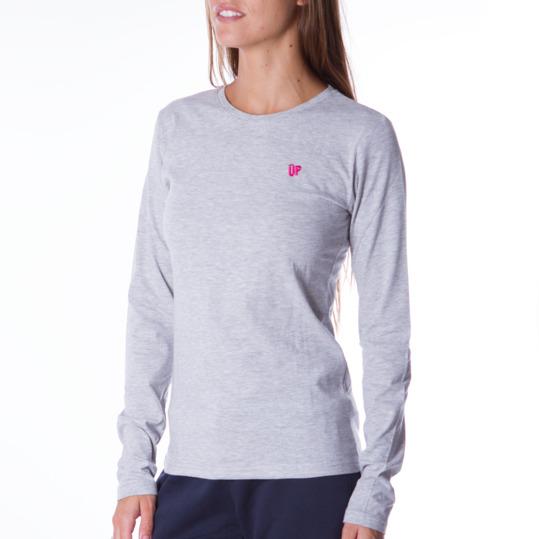 Camiseta de manga larga mujer UP Básicos gris