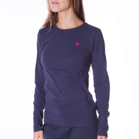 Camiseta de manga larga mujer UP Básicos azul marino