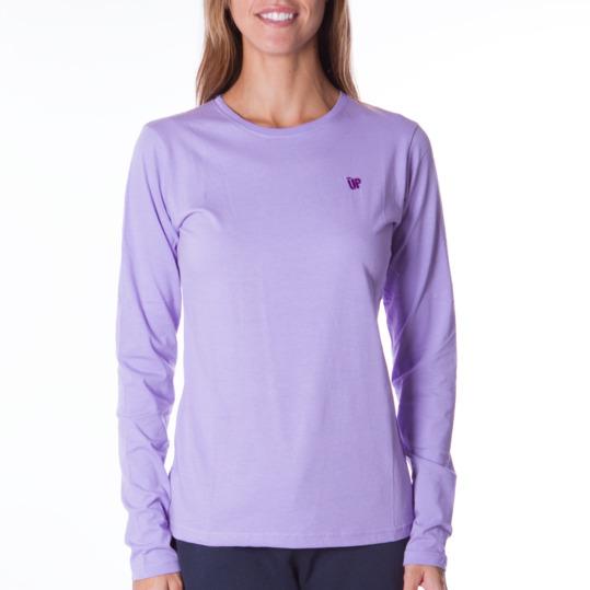 Camiseta de manga larga mujer UP Básicos lila
