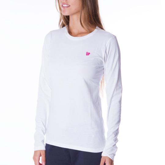 Camiseta de manga larga mujer UP Básicos blanco