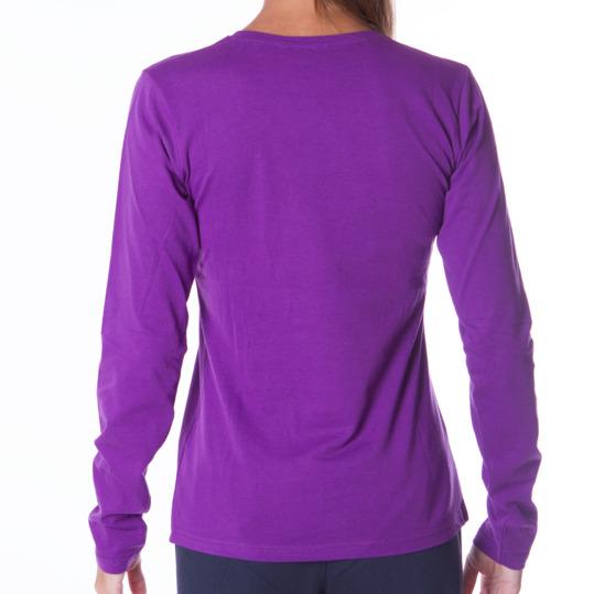 Camiseta de manga larga mujer UP Básicos morado