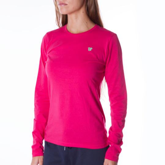 Camiseta de manga larga mujer UP Básicos coral