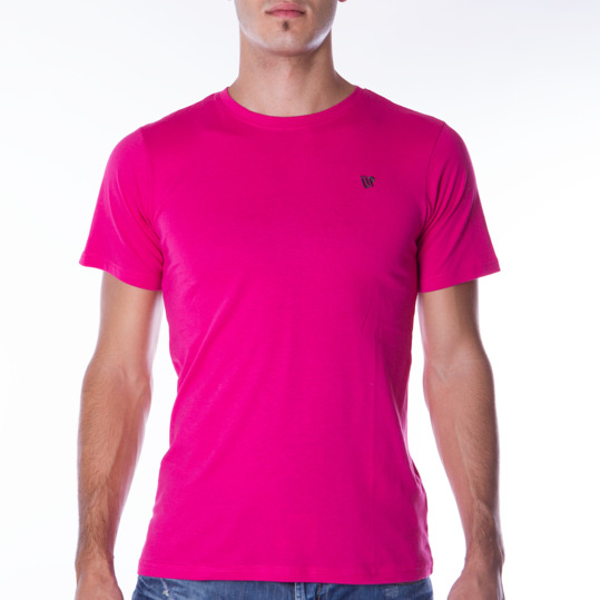 Camiseta UP Básicos rosa fucsia hombre