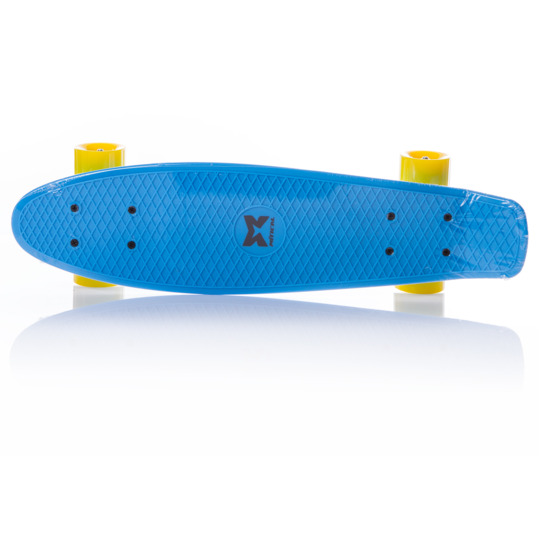 Monopatín MÍTICAL Azul Amarillo