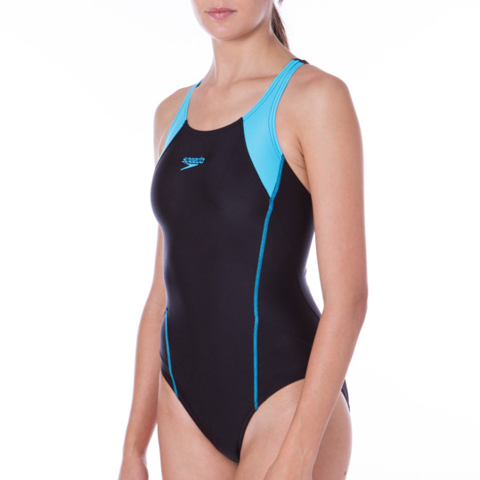 Bañador SPEEDO Exclusivo Negro Azul Mujer