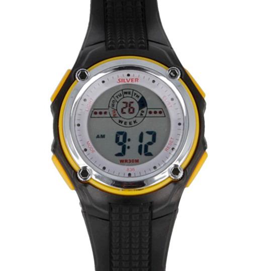 Reloj Digital SILVER Negro Amarillo Hombre