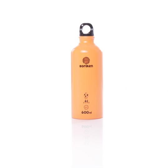 Botella Aluminio BORIKEN Naranja 0,6 litros