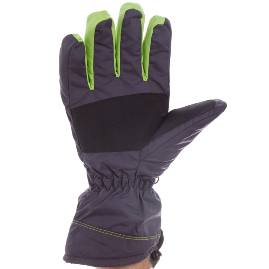 Guantes nieve hombre BORIKEN gris oscuro-verde pistacho (8-9)