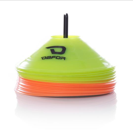 Discos Indicadores Entrenamiento DAFOR Naranja Flúor