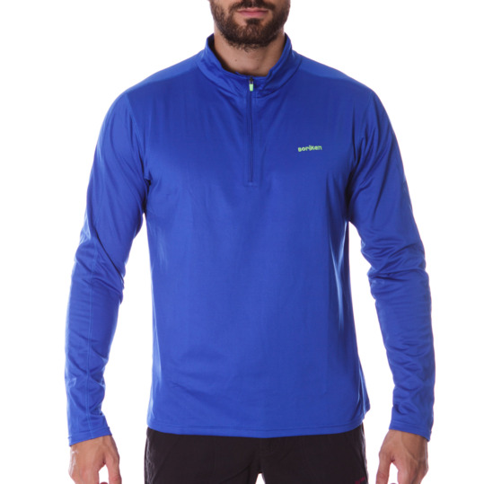 Camiseta térmica de manga larga hombre BORIKEN azul