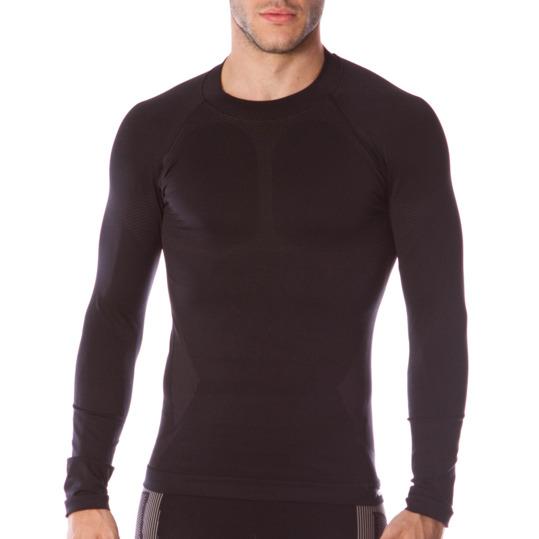 Camiseta de manga larga térmica hombre BORIKEN negro