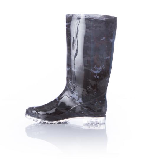Botas de agua mujer SILVER negro camuflaje