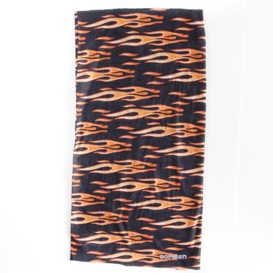 Braga cuello polar BORIKEN negro-naranja