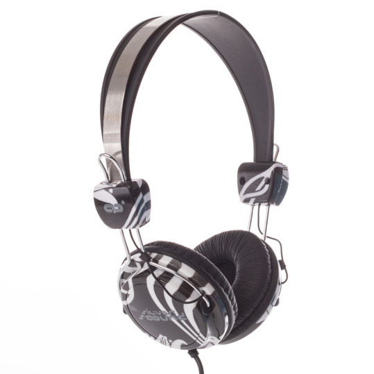 Auriculares SILVER Cebra Negro