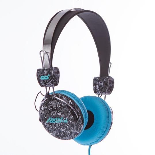 Auriculares SILVER Cómic Azul