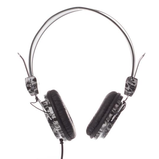 Auriculares SILVER Calaveras Negro
