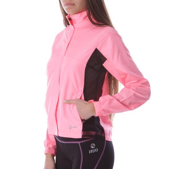 Cortavientos Running IPSo Rosa Fluor Mujer