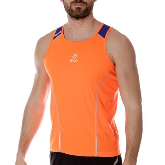 Camiseta Running IPSo Experience Naranja Hombre