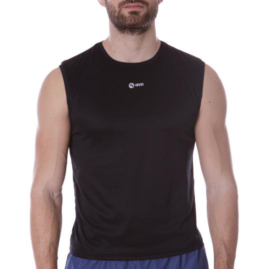 Camiseta Running IPSO Basic Negro Hombre