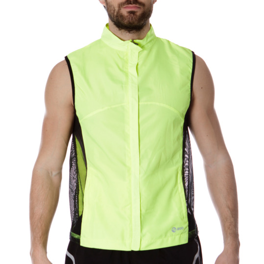 Chaleco Running IPSo Amarillo Hombre