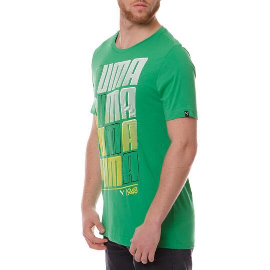 Camiseta Moda PUMA Fun Verde Hombre