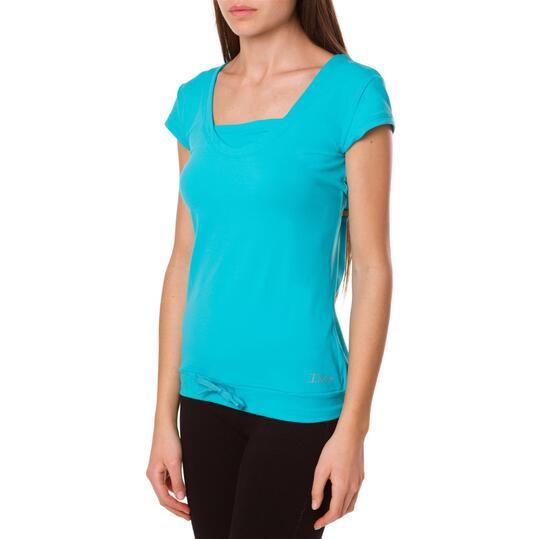 Camiseta Fitness ILICo Plata Turquesa Mujer