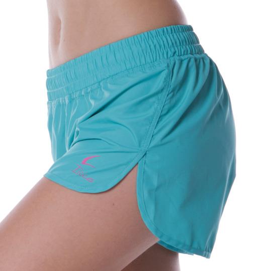 Short Fitness ILICo Curvo Azul Turquesa Mujer