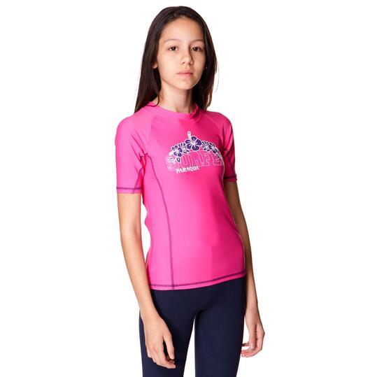 Camiseta Natación PARAQUA Niña Fucsia (10-16)